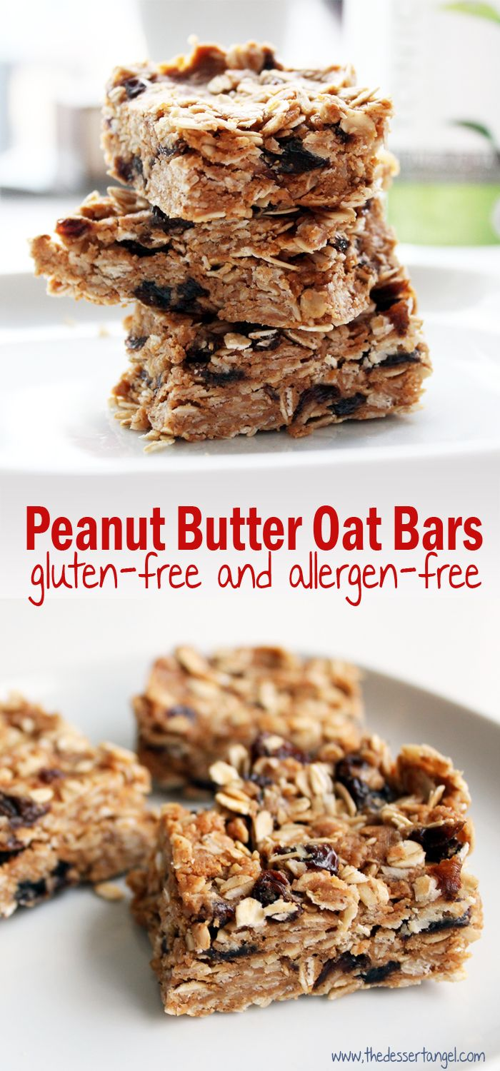I want to share with you a gluten-free snack bar that you can whip up in a few minutes (no bake). I've been snacking on these while on the go and they never disappoint! ==>> Peanut Butter-Oat Snack Bars by TheDessertAngel.com