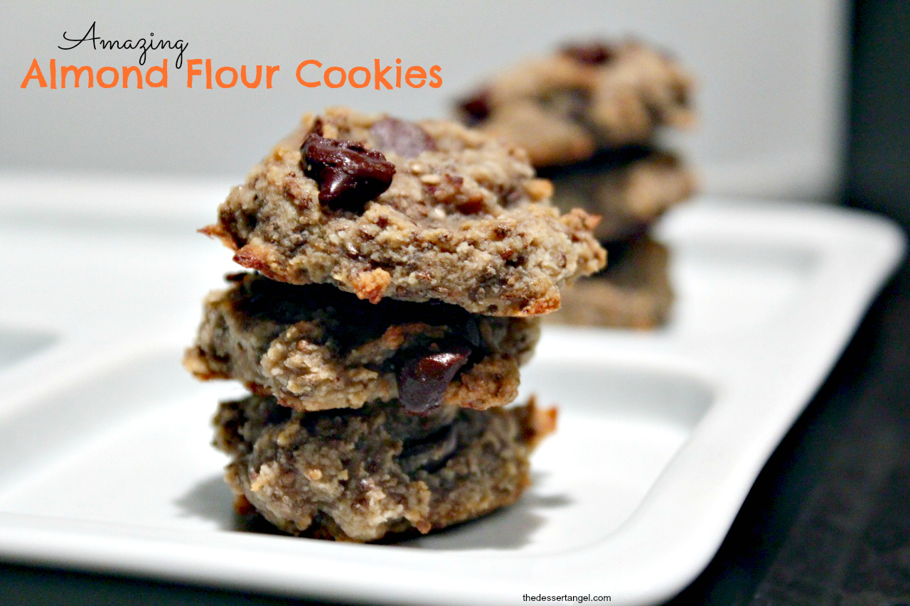 Almond Flour chocolate chip cookies by TheDessertAngel.com