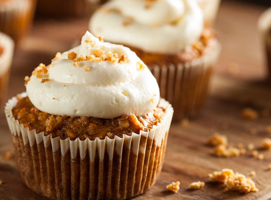Gluten-Free Recipe Mini Carrot Cupcakes with Frosting by TheDessertAngel.com